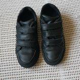Кожаные туфли Clarks кларкс на липучках. UK 11,5 F. 19,5 см стелька