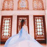 Картина По Номерам. BRUSHME ДЕВУШКА В Витражах GX23773. Дівчина.