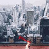 Картина По Номерам. BRUSHME КРАСНЫЙ Шарф В Нью Йорке GX26281. Місцеві пейзажі.