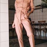 Стильный женский брючный косюм ткань науральный лен три весенних цвета скл.1 арт.53235
