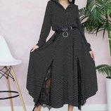 Красивое нежное платье 42 - 46 три расцветки