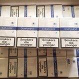 Продам оптом сигарeты «Compliment Demi blue6 XXL». Ящик-480 пачек 60 блоков по 8пачек .