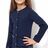 Жакет для девочек синего цвета Тм Mevis 2363 Размеры 134- 146