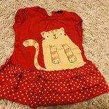 Яркое красивое красное платье на рост 92-104 рост
