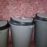 Бак для мусора с перекидной крышкой, садовый бак, урна для мусора, мусорник, ведро для мусора
