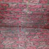 Полка металлическая прямая в ванную подвесная
