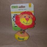 Мягкая игрушка погремушка-гантелька BABY TEAM 8505 лев львенок