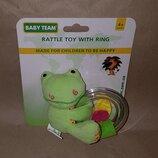 Погремушка игрушка грызунок с кольцом Baby Team 8502 лягушенок жабка