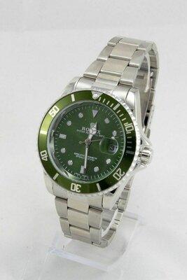 Часы мужские Rolex Submariner silver/gren реплика