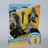 новый набор fisher price mattel 2018 год DC super friends бэтмен и бэтмобиль оригинал