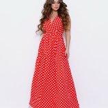 Ярко-Красный нарядный сарафан