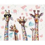 Картина по номерам. Веселые жирафы 40 50см KHO4115