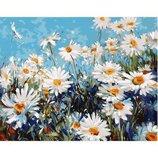 Картина по номерам. Цветы Лесные ромашки 40 50см KHO2918