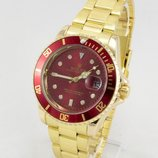 Часы мужские Rolex Submariner gold/red реплика