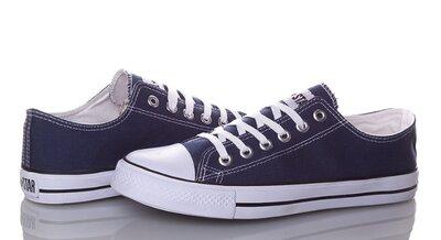 Мужские и женские кеды All star Converse white 36,37,38,39, 40,41,42,43,44,45,46 новые синие белыиев
