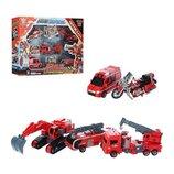 Робот Трансформер Fire Warrior 5 в 1 Пожарная машина899-46