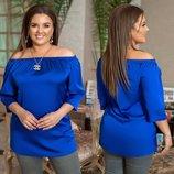 Блузка Цвет синий, электрик, изумруд, пудра Длина изделия 70 см, рукав 40 см. Ткань шёлк армани М