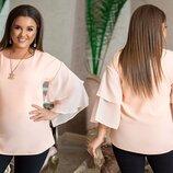 Блузка Ткань софт маями, шифон Длина изделия 72 см. Изысканная блуза из софта маями, и шифона, это