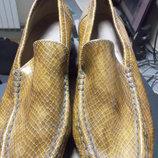 Удобные туфельки змеинный принт