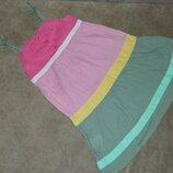 Платье сарафан детское розовое на бретелях на девочку 3-4 года Next.