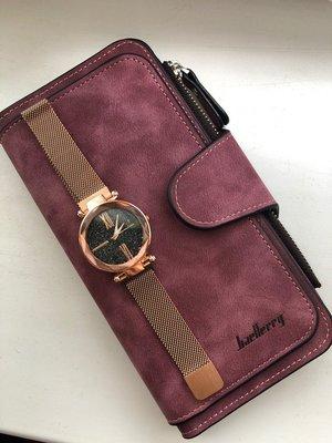 Комплект женский кошелек Baellerry Forever наручные часы Starry Sky