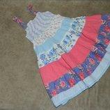 Сарафан платье детское на бретелях пышное на девочку 1,5-2 годика Next.