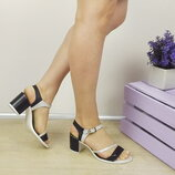 Супер цена Аккуратные босоножки, натуральная кожа, устойчивый каблук