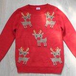 Детский новогодний свитер f&f