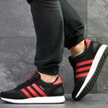 Adidas Iniki кроссовки мужские демисезонные черные с красным 7747
