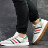 Adidas Iniki кроссовки мужские демисезонные белые 7749