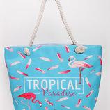 Пляжная сумка с ярким тропическим принтом