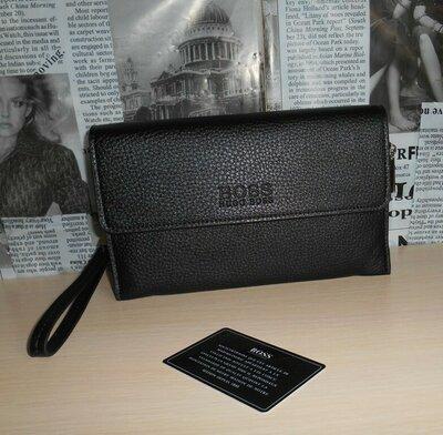 96c495e353e8 Мужская сумка клатч барсетка мужской HUGO BOSS, кожа, Италия. Previous Next