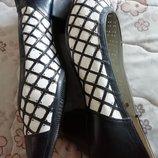 Туфли кожаные женские doindorf размер 37-4.5 стелька 24см