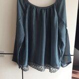 Шелковая блуза нарядная Италия 100% seta