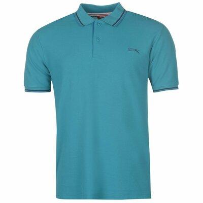 Slazenger футболка мужская рубашка поло Teal / Blue . Англия.