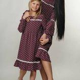 Очаровательно нежное платье свободного силуэта Шерил-Kids