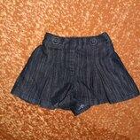 Юбка шорты джинсовая I love next, 12-18 мес, 86