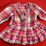 Платье с длинным рукавом на 3-6 месяцев