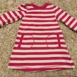 Платье с длинным рукавом mothercare на 6-9 месяцев