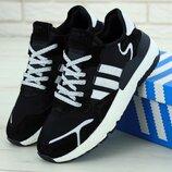 Мужские кроссовки Adidas Nite Jogger Black White