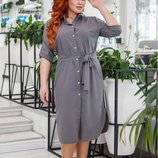 Платье рубашка с лампасом норма