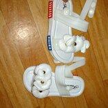 Детские силиконовые белые босоножки 24,25,26,27,28,29 от 13.5см до 16см