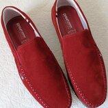 Style Tommy Hilfiger Мужские в стиле Томми Хилфигер красные замшевые мокасины