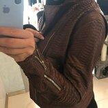 Куртка кожаная питон