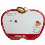 Доска маркерная детская для рисования Deli 30 40 см Яблоко с маркером