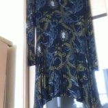 Тонкое легкое платье с принтом в цепи. 46, М.