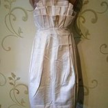 H&m . эффектное платье бюстье . новое .100% хлопок H&M