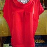 Блуза яркая красная Marks & Spencer