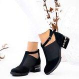 Женские замшевые туфли на резинке