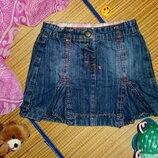 Юбка джинсовая для девочки 2-3года